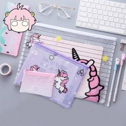 Popular Unicorn Colorful File Bag Document Bag File Folder Stationery Filing Production