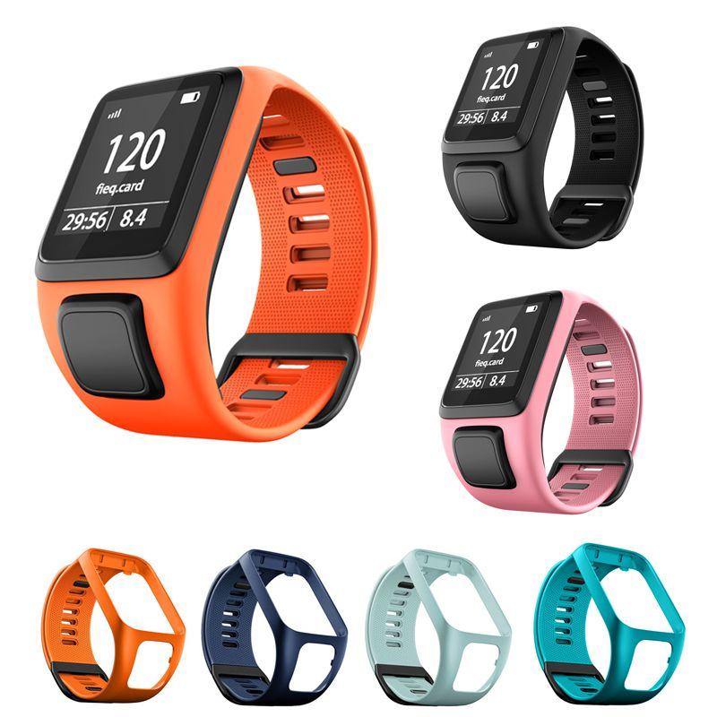 Bracelet de remplacement en Silicone pour TomTom Runner 2 3 Spark 3 aventurier golfeur 2 Spark Cardio GPS Sport bracelet de montre intelligent