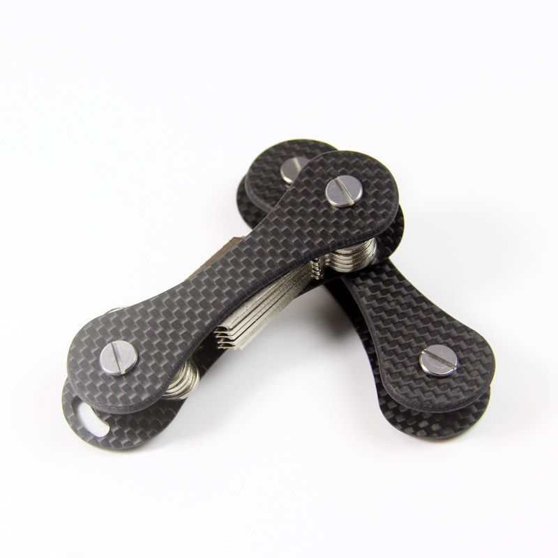 QingGear fibre de carbone keybone clé support organisateur léger voyage voiture porte-clés clés Bar Unique EDC extérieur Multi outils