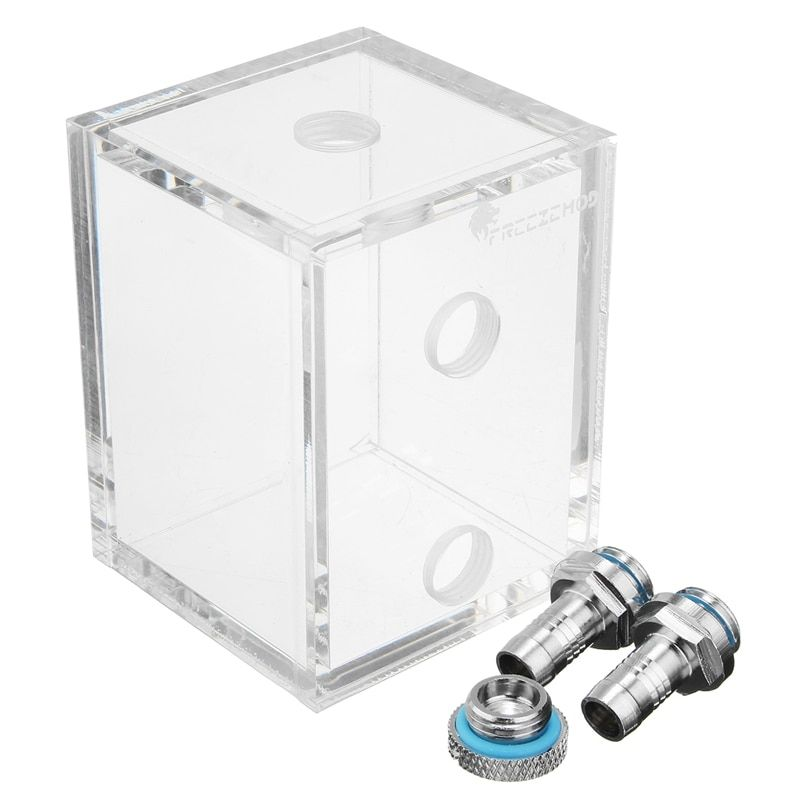 Acrylic 250ml Water Tank G1/4 With 2 Connector For PC CPU Liquid Cooling System High Quality Water cooling Cooer Accessory