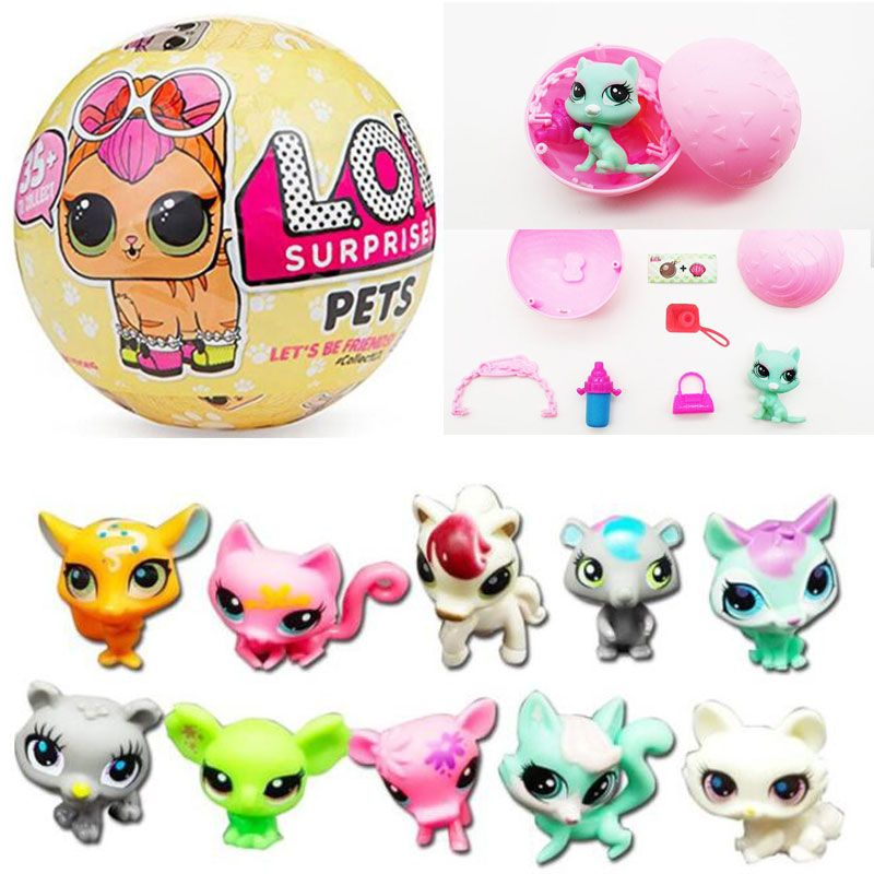 Cartoon Pet LOL Surprise Doll Toys LOL Pets Surprise Egg Toy Figures Best New Year Christmas Gifts For Children