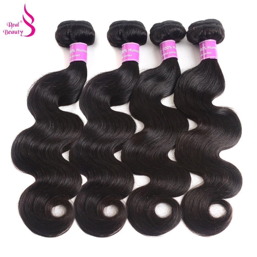 Vraie Beauté Brésilienne Vague de Corps Cheveux Weave Bundles 100% de Cheveux Humains Faisceaux Non-Remy Extensions de Cheveux Peut Être Teint 8