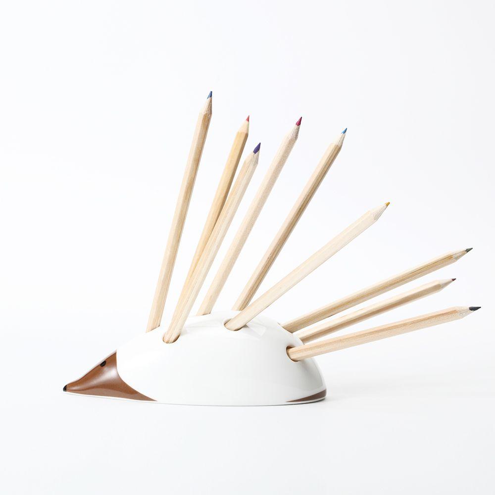Creative Hérissons Porte-Plume Boîte De Rangement En Céramique Crayon cas Brosse pot