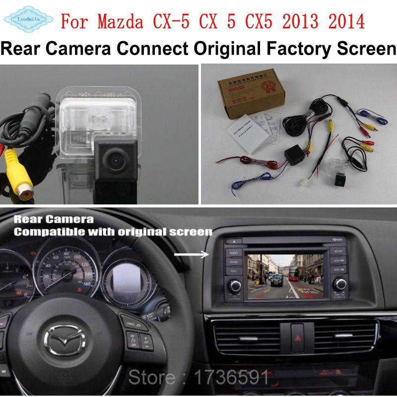Lyudmila pour Mazda CX-5 CX 5 CX5 2013 2014/RCA et Compatible écran d'origine/caméra de recul de voiture/caméra de recul HD