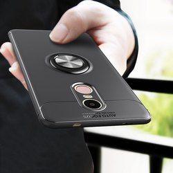 Untuk Xiaomi Redmi Catatan Kasus 4X Lembut Silikon Kembali Penutup untuk Redmi Catatan 4X Logam Finger Cincin Coque Mesh Desain Fundas