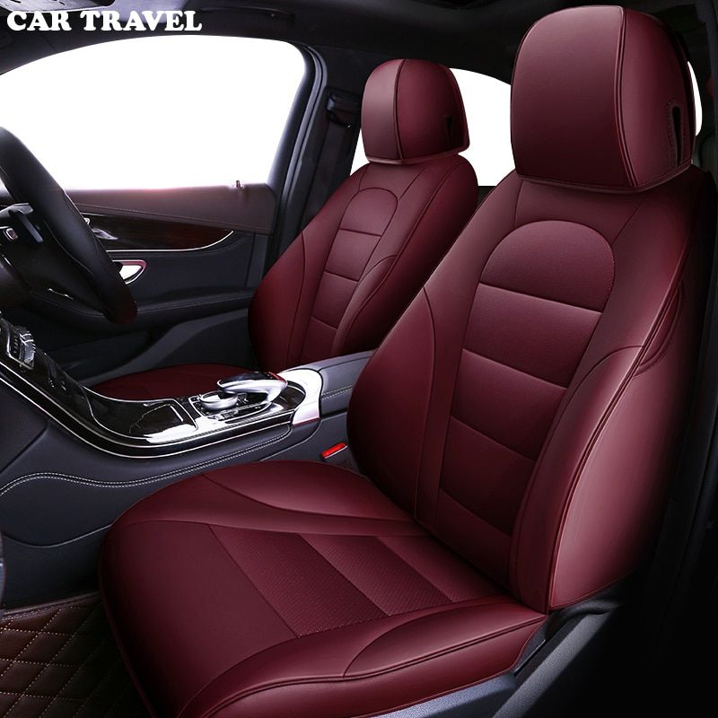 CAR TRAVEL Custom Genuine leather car seat cover for Toyota Prado chr auris wish aygo prius avensis camry 40 50 auto accessories