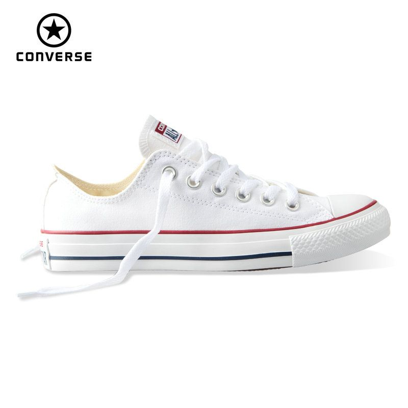 Original new Converse all star canvas shoes men's <font><b>women</b></font> unisex sneakers classic Skateboarding Shoes white color free shipping