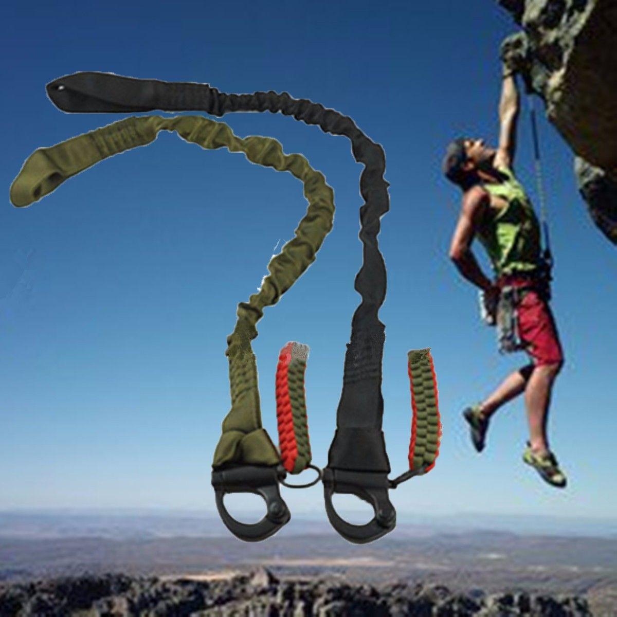 Hochwertige Outdoor Klettern montage Sicherheit Lanyard Gurt Seil Taktische Schutz Schlinge Linie Klettern Seil klettern kit