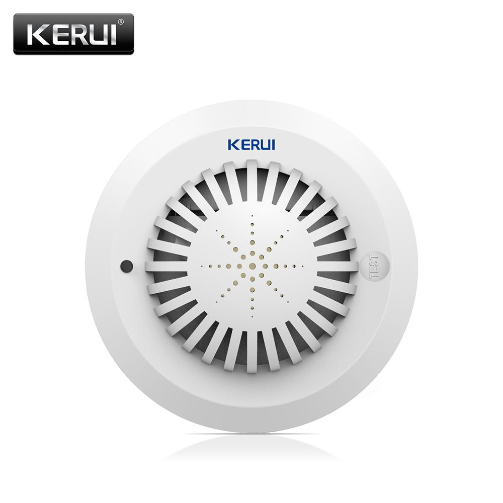 2017 KR-SD03 High Sensitivity Voice Prompts Smoke Fire Detector/<font><b>Sensor</b></font> linkage With Kerui Home Alarm System Low Battery Remind