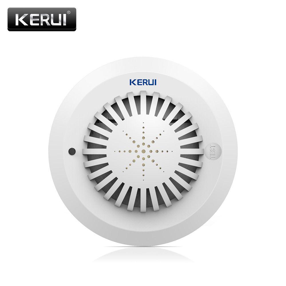 2017 kr-sd03 Высокая чувствительность голосовые подсказки Дым пожарный извещатель/Сенсор связь с Kerui сигнализации дома Системы низкая Батарея н...