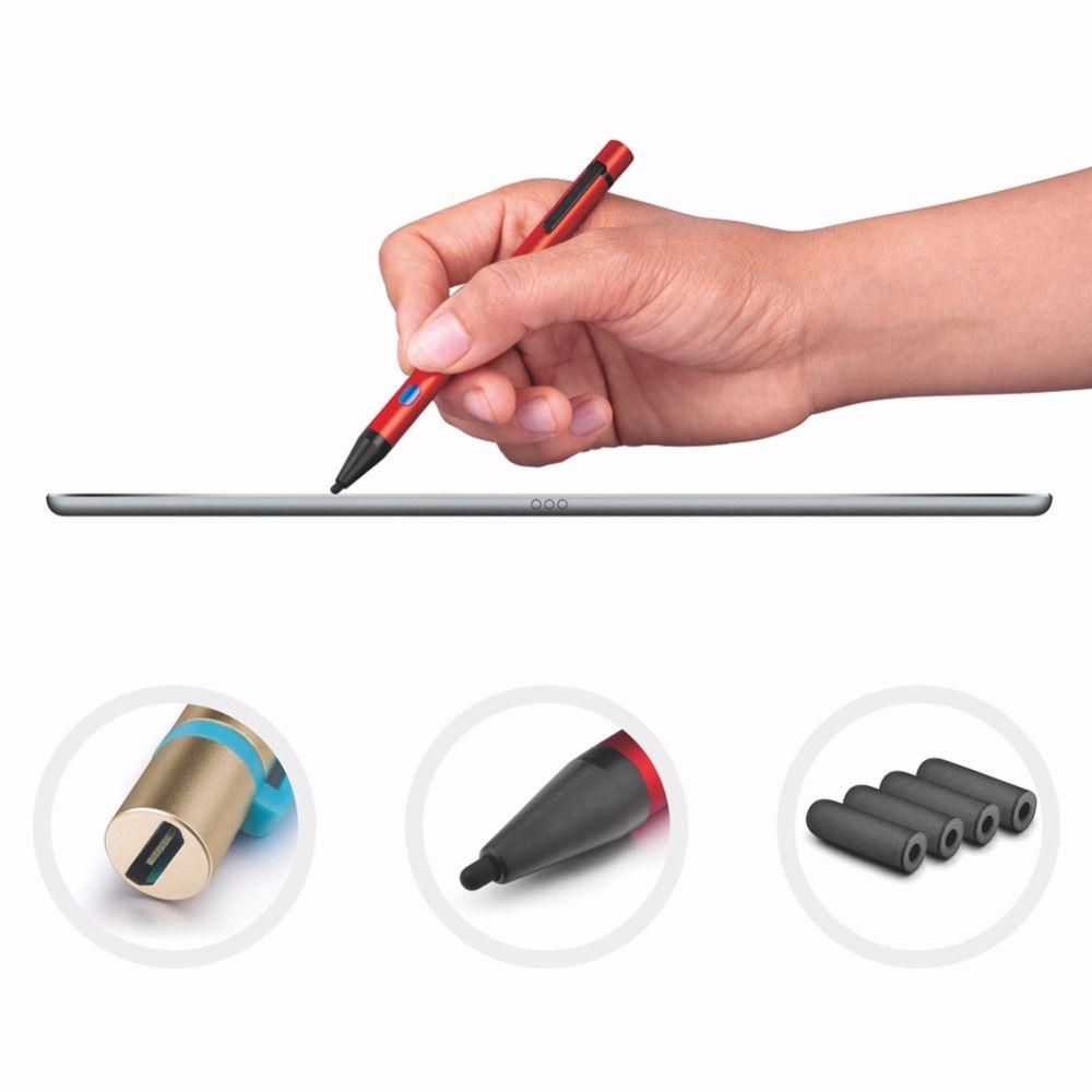 Active Stylus Stylo USB De Charge Métal Capacitif 3D Tactile Écran pour Samsung xiaomi huawei Comprimés Pad rouge