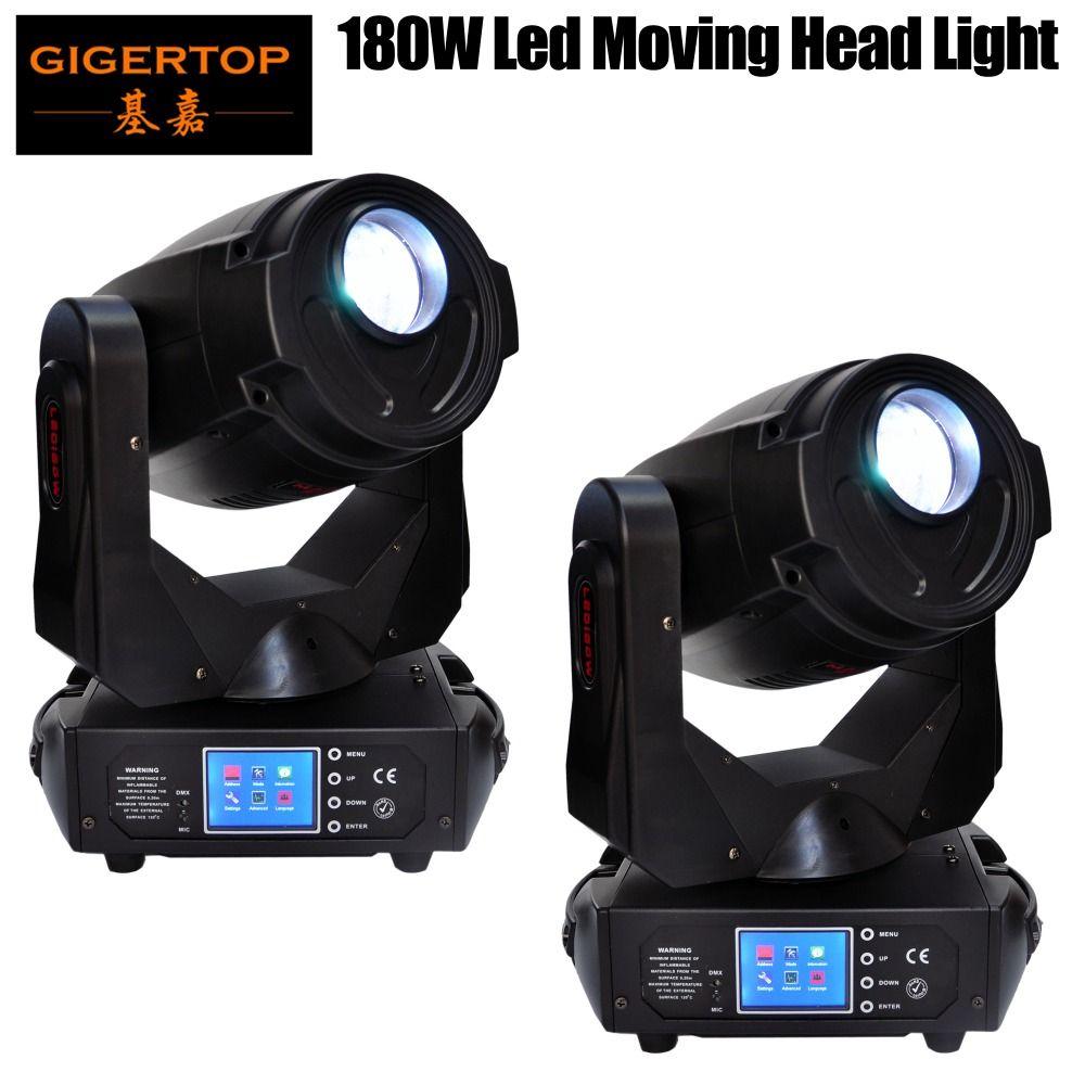 Freeshipping 2 Pack 180W Led Moving Head Light Pan 540/Tilt 270 Degree Frost Lens/3 Facet Prism/5 Facet Prism Frost Lens CE ROHS