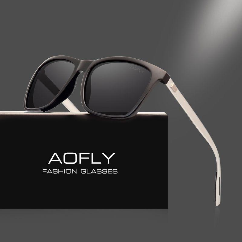 AOFLY Classic Polarized Sunglasses Fashion Style Sun Glasses for Men/Women Vintage Brand Design oculos de sol masculino UV400