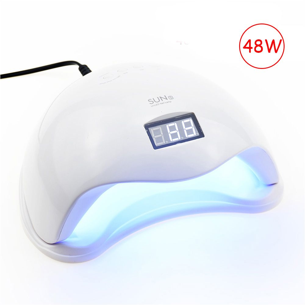 48W UV Nail Lamp LED Lamp For Manicure Nail Dryer For All Gels Polish With Infrared Sensing 10/30/60s LCD display Light