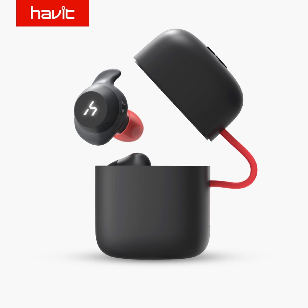 HAVIT TWS Bluetooth Earphone True Wireless Sport Earphone Waterproof 3D <font><b>Stereo</b></font> Earbuds With Microphone for Handsfree Calls G1