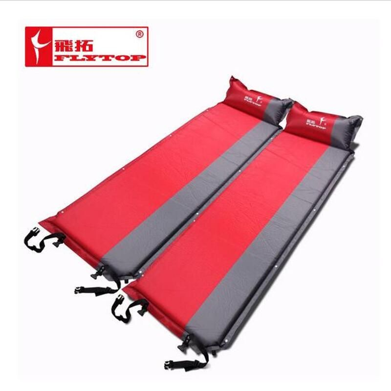 Thick 5CM Outdoor camping mat Air automatic inflatable mattress beach mat seat foam waterproof Can be spliced camping mattres