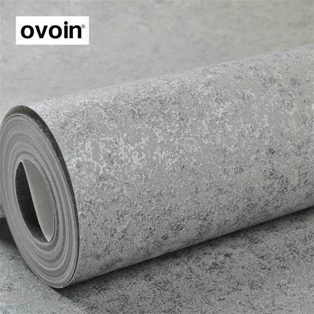 Grey Textured Concrete Cement Wallpaper Office Bedroom Living Room Background Wall Decor Modern Vintage Wall Paper Roll