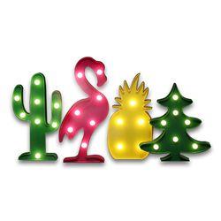 3D светодиодный фламинго и ананасы лампа в форме кактуса настольная лампа в романтическом стиле в детскую комнату дома Украшения в спальню п...