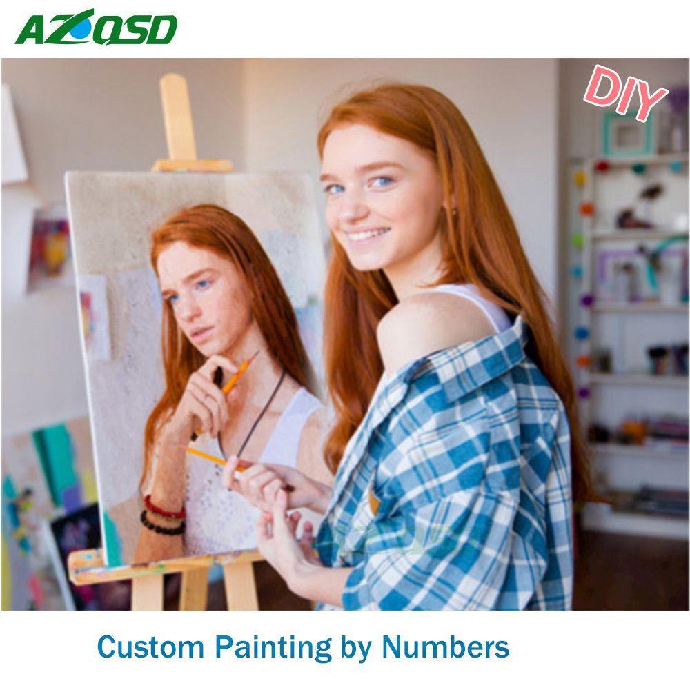 Personnalité Photo Personnalisé bricolage peinture à l'huile Peintures Par Numéros Image Dessin par Numéros Toile Coloration par des Numéros Acrylique