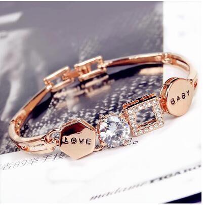 CAB005 925 Sterling argent amour sans pierre bracelet avec la boîte 16/17/18/19/20/21 CM