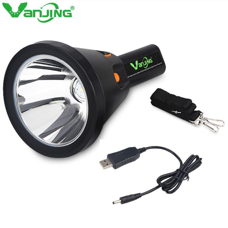 Puissant 30 W lampe de poche LED étanche longue portée Torches lumière chasse pêche Camping 18000mA 18650 chargeur de batterie au Lithium