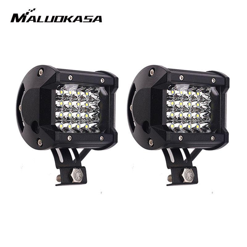 72W / 18W LED Light Bar 4/2 Row 24/6 LED Pods Work Light Spot Car Light for Off road Vehicle Truck Driving Fog Light Beam