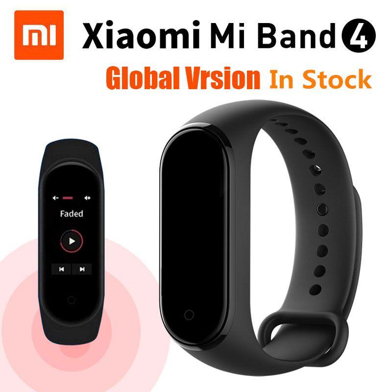 En STOCK Original Xiao mi bande 4 musique Smart mi bande 4 Bracelet fréquence cardiaque Fitness 135mAh couleur écran Bluetooth 5.0 bracelets