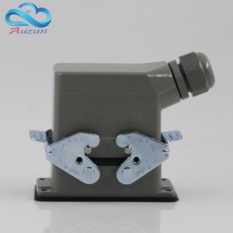 Rectangular H10B - HE - 010-1 heavy connectors 10 aviation plug for double side buckle 16 a500v screw feet