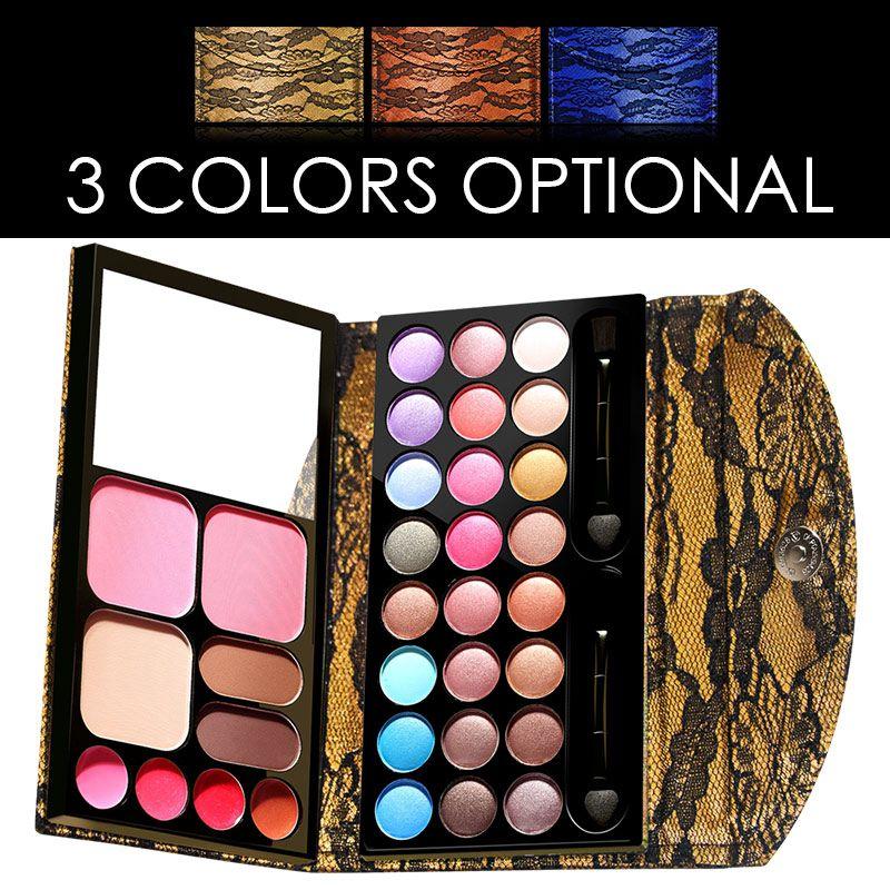 LaceTrimmed 33 Colors Natural Eye shadow Palette Eyeshadow Shimmer Matte Maquiagem Concealer Cosmetic Long Lasting Makeup Set