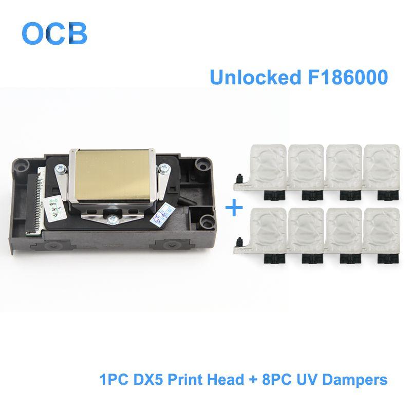 Neue F186000 Entsperrt UV Druckkopf DX5 Lösungsmittel Druckkopf Für Epson R1800 R1900 R2000 R2400 4880 Für Mimaki JV33 Für mutoh 1604