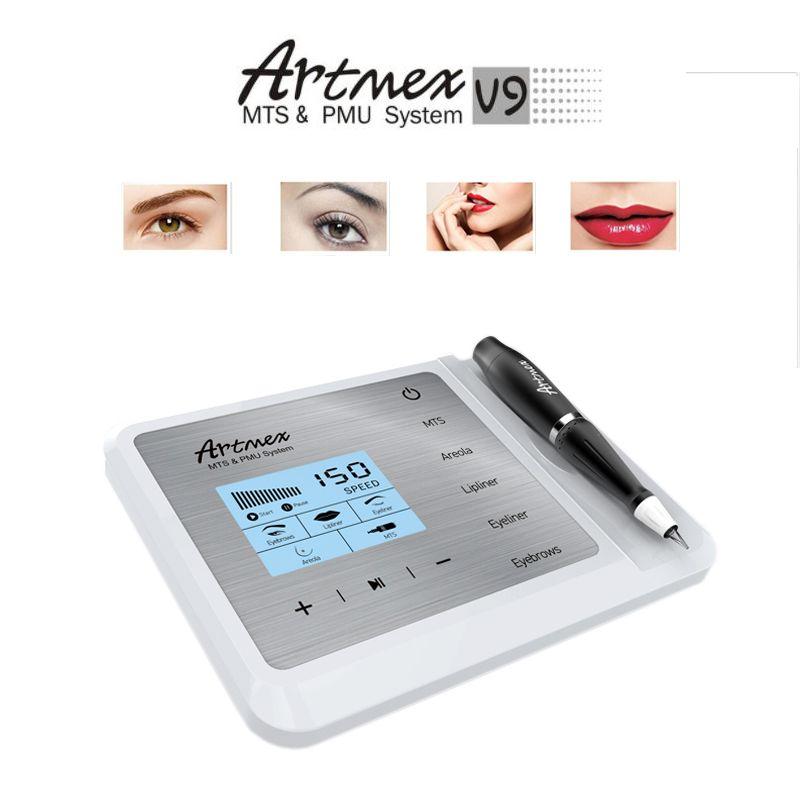 Artmex V9 Permanent Makeup Tattoo Machine Eye Brow Lip Rotary Pen V6 MTS PMU System