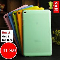 Untuk Huawei MediaPad T1 8.0 S8-701U/S8-701W/T1-821W/T1-823L Tablet Case Lembut TPU Silikon Back Cover kasus