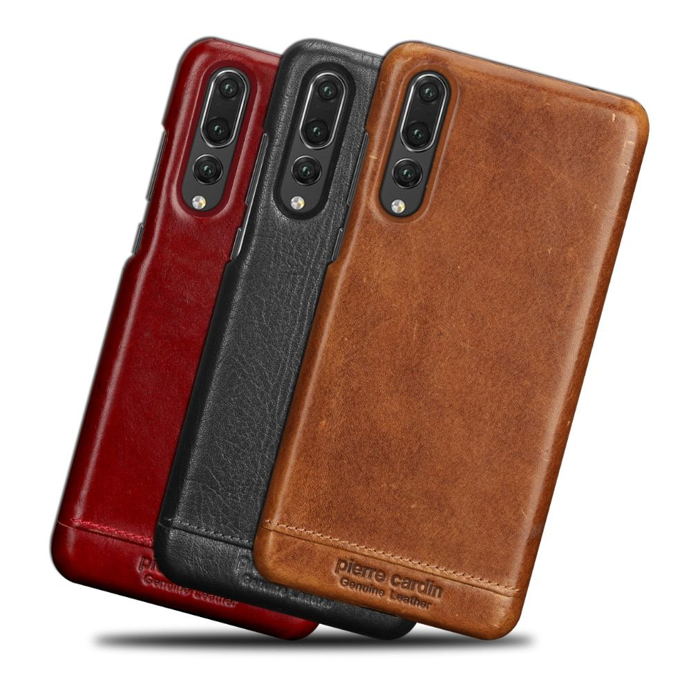 New Pierre Cardin Retro Genuine Leather For Huawei P20 Pro Case Hard Back Case Cover Ultrathin protective sleeve Free Shipping