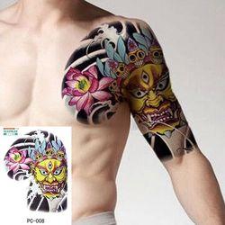 Ukuran Besar Tato Sementara Di Dada Tubuh Lengan Bahu Keren Tato Palsu Air Transfer Tato untuk Pria Besar 32*24 Cm Tattoo Stiker