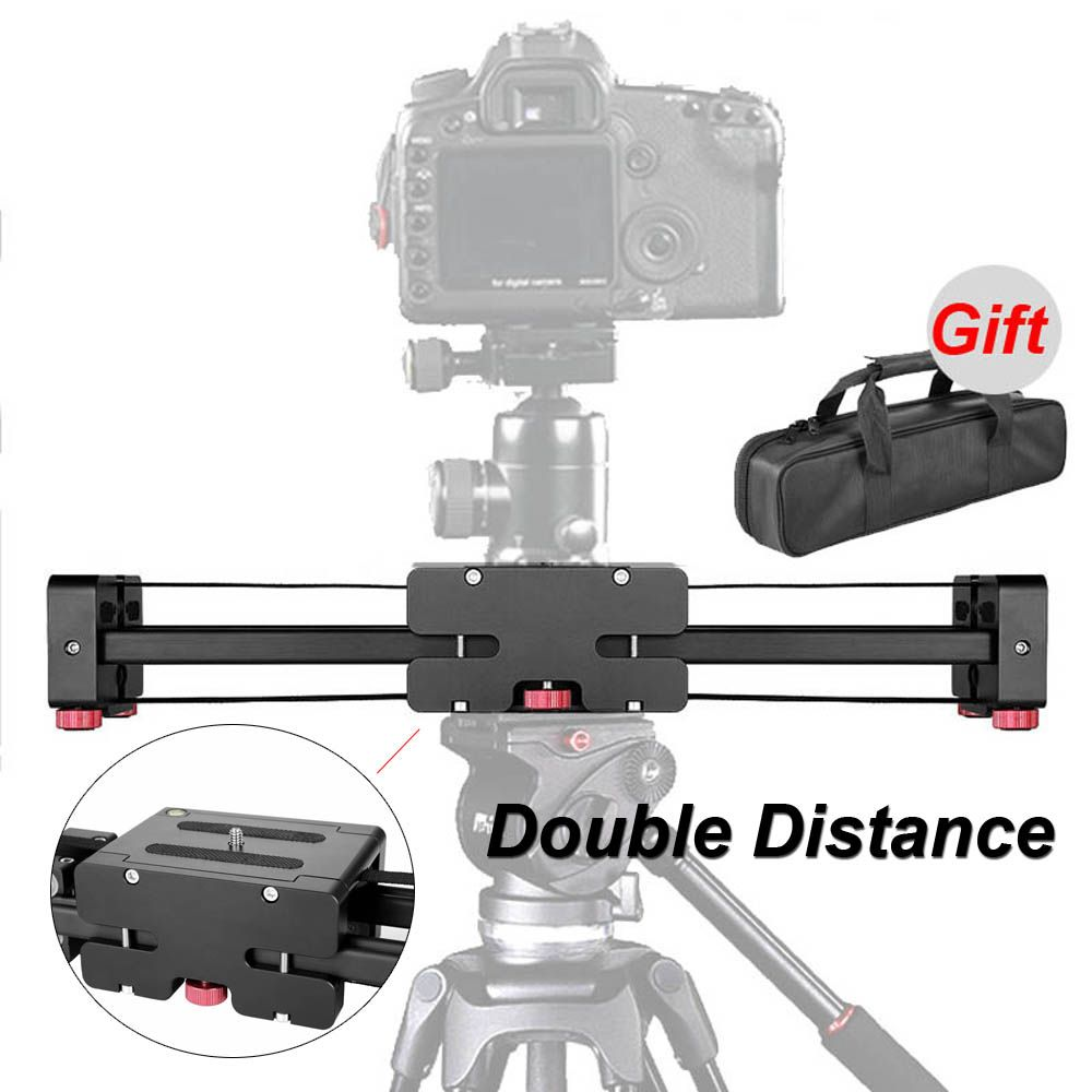 New Professional Adjustable DSLR Camera Video Slider Track 520mm Double Distance For Canon Nikon Sony Camera DV Dolly Stabilizer