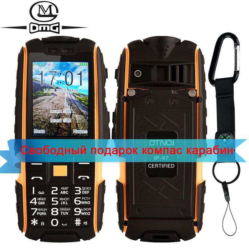 D'origine DTNO. Je A9 Russe clavier IP67 Étanche antichoc téléphone 4800 mAh batterie Dual SIM mobile téléphone FM flashligh téléphones