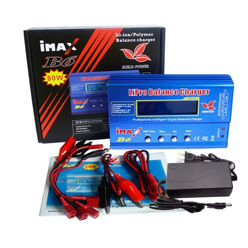 Imax B6 12v battery charger 80W Lipro Balance Charger NiMh Li-ion Ni-Cd Digital RC Charger 12v 6A Power Adapter EU/US Charger
