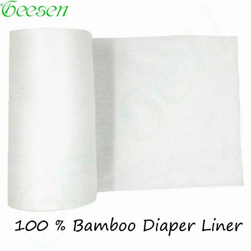 Revestimiento de bambú Desechables, 100 Hojas/rollo Desechables Biodegradables Para 3-36 Meses Y 3-15Kg Bab