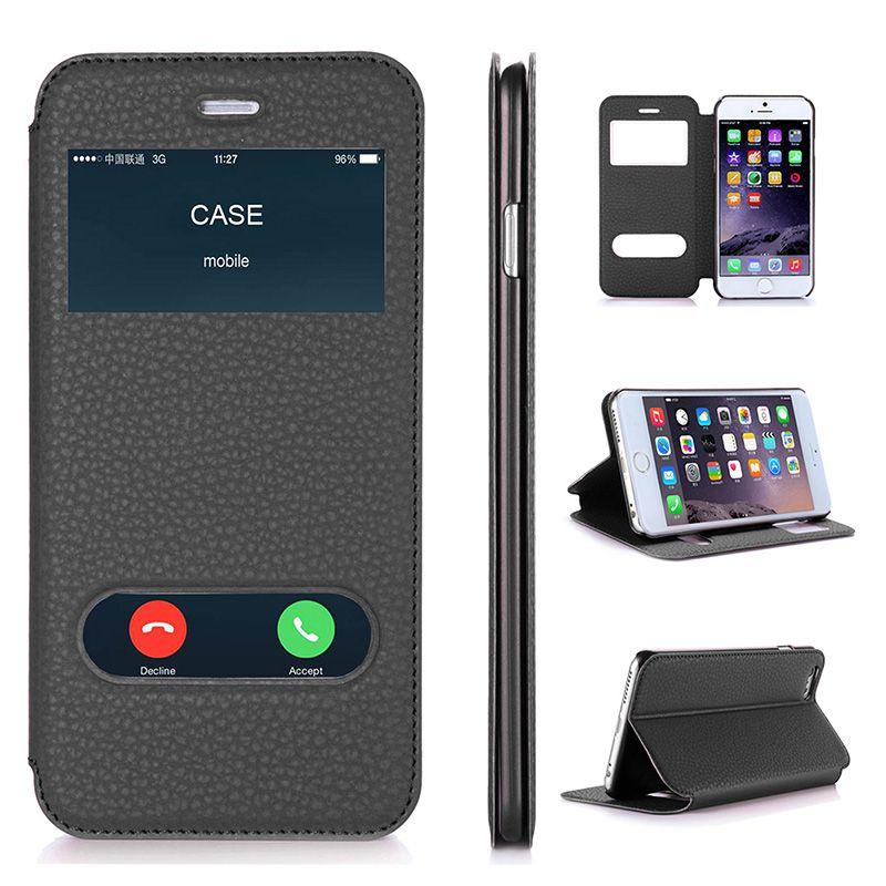 Coque pour Apple iPhone 6 Plus & iPhone 6 S Plus de luxe en cuir PU étui portefeuille avec béquille Capa coques de téléphone 5.5 pouces