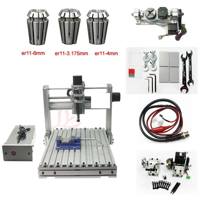 5 Axis 3040 CNC engraving milling machine USB Port Desktop Ball Screw 4axis CNC Router