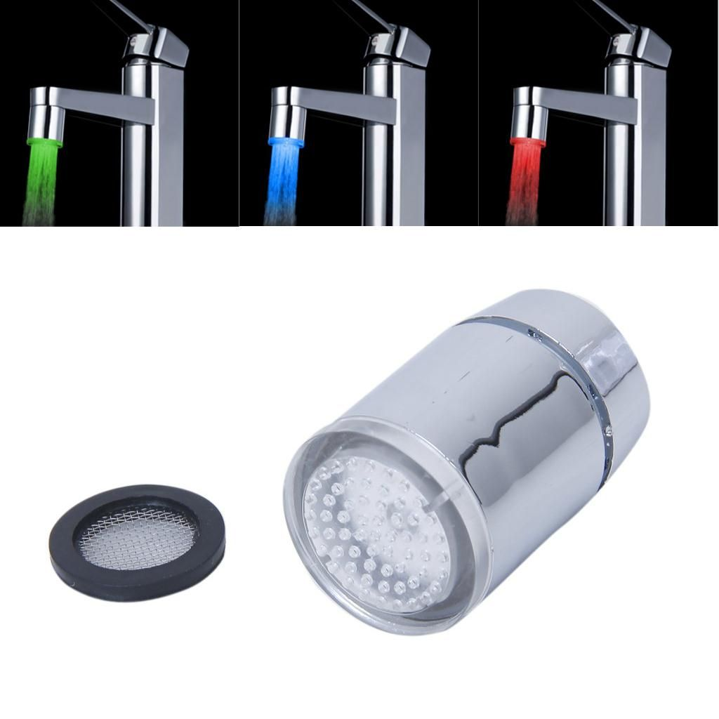 IMC Heißer Glow Temperature Sensor Led-wasser-strom-hahn-hahn 3 Farbe