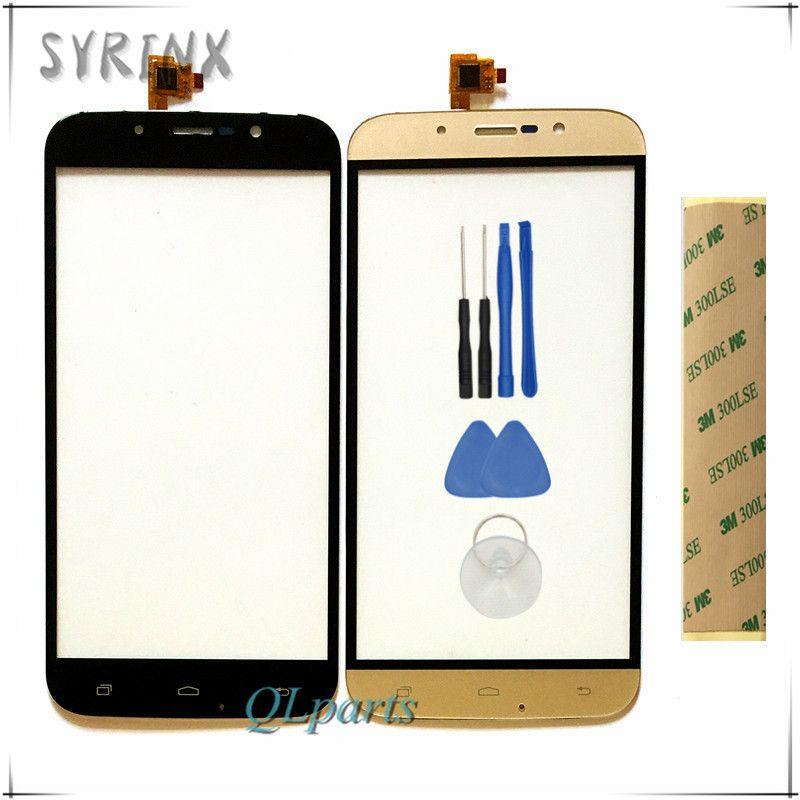Syrinx Avec 3 M Autocollant mobile téléphone écran tactile numériseur panneau Pour Pour DEXP Ixion ES255 Feu avant verre capteur remplacement