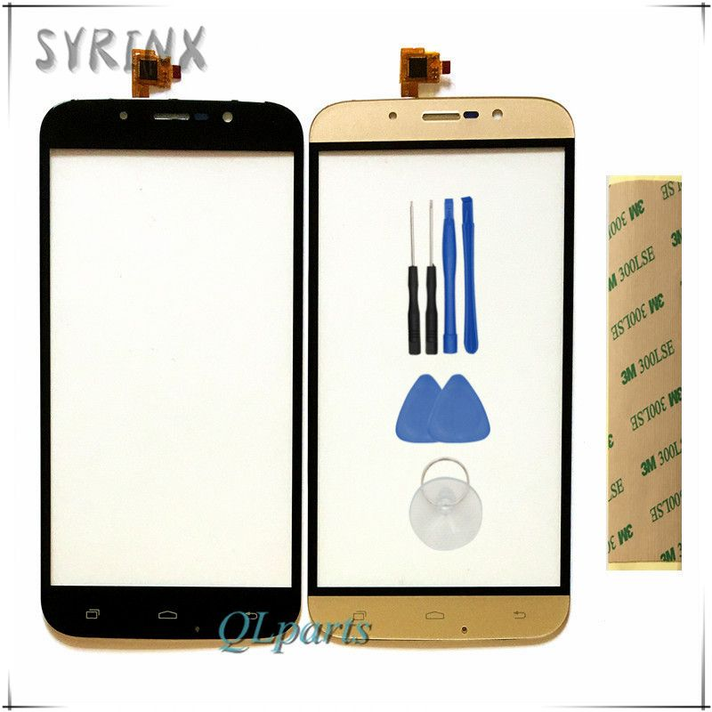 Syrinx With 3M Sticker mobile phone touch screen digitizer panel For For DEXP Ixion ES255 Fire front glass sensor replacement
