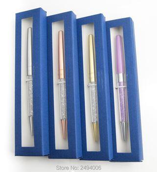 Nouveau stylo cristal stylo À Bille dame étudiant beau cadeau cristaux stardust Stylo avec cadeau logo boîte cas