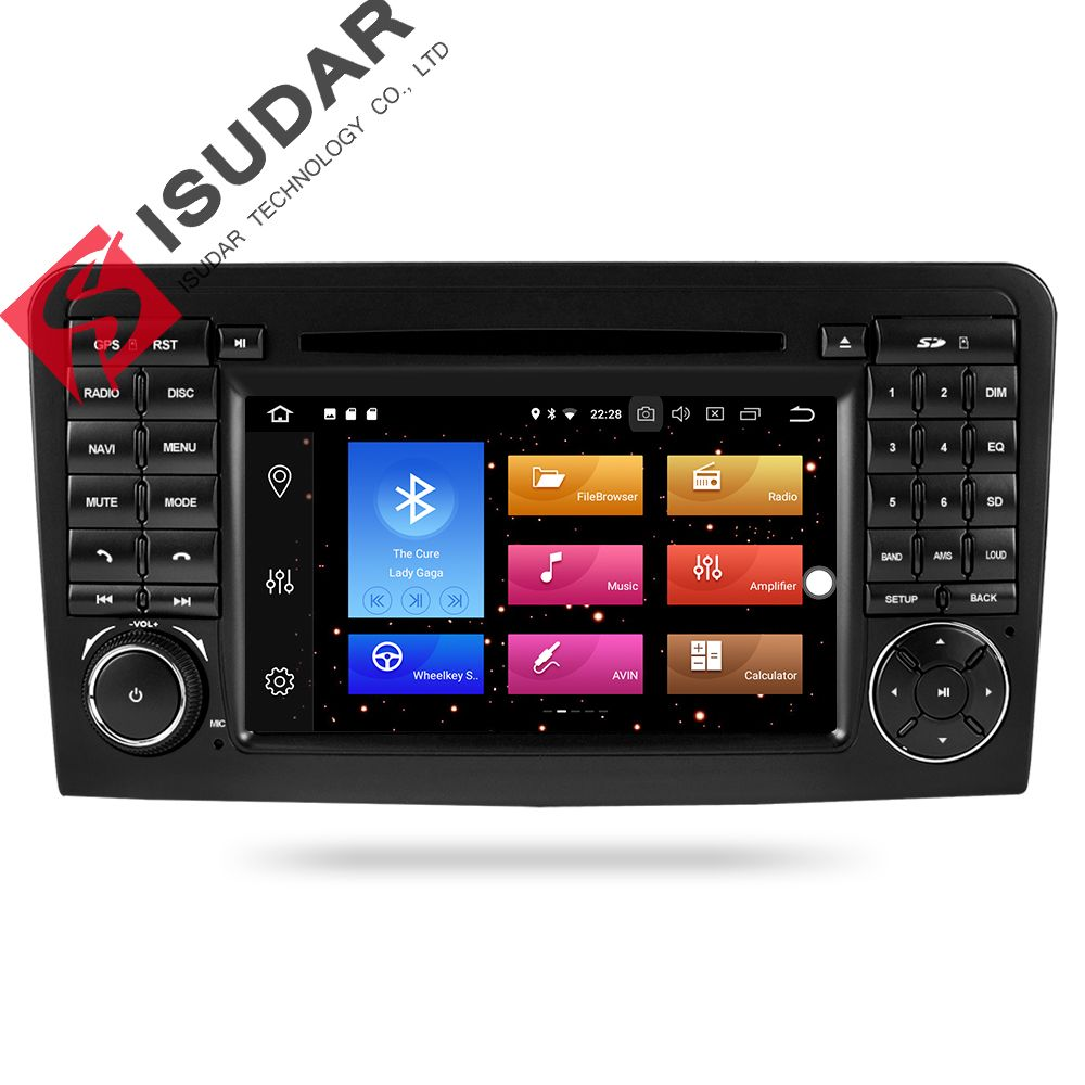 Isudar Car Multimedia Player GPS Android 8.0 2 Din For Mercedes/Benz/ML CLASS W164 ML350 ML300 DSP 4GB RAM car radio GPS wifi