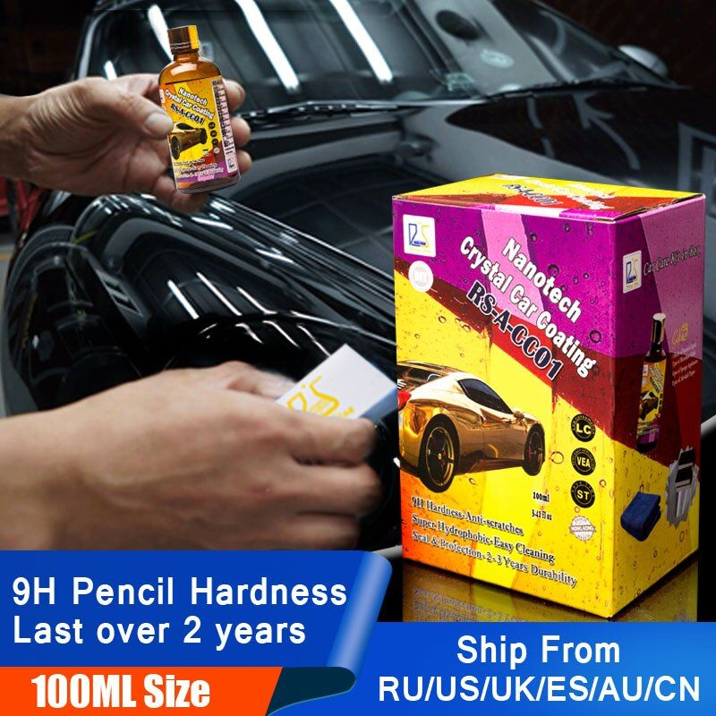 9H Liquid Glass Nano Ceramic Car Coating <font><b>Super</b></font> Hydrophobic Glass Coating Car Wax Ultra Shine Protect Against Micro Scatches