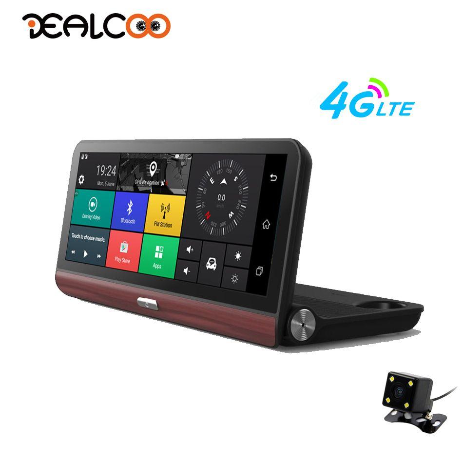 Dealcoo Car DVR Video Recorder Camera 8 inch ADAS GPS Android 4G WIFI 1080P FHD Dual Lens GPS Tracker Parking Monitor Dash Cam