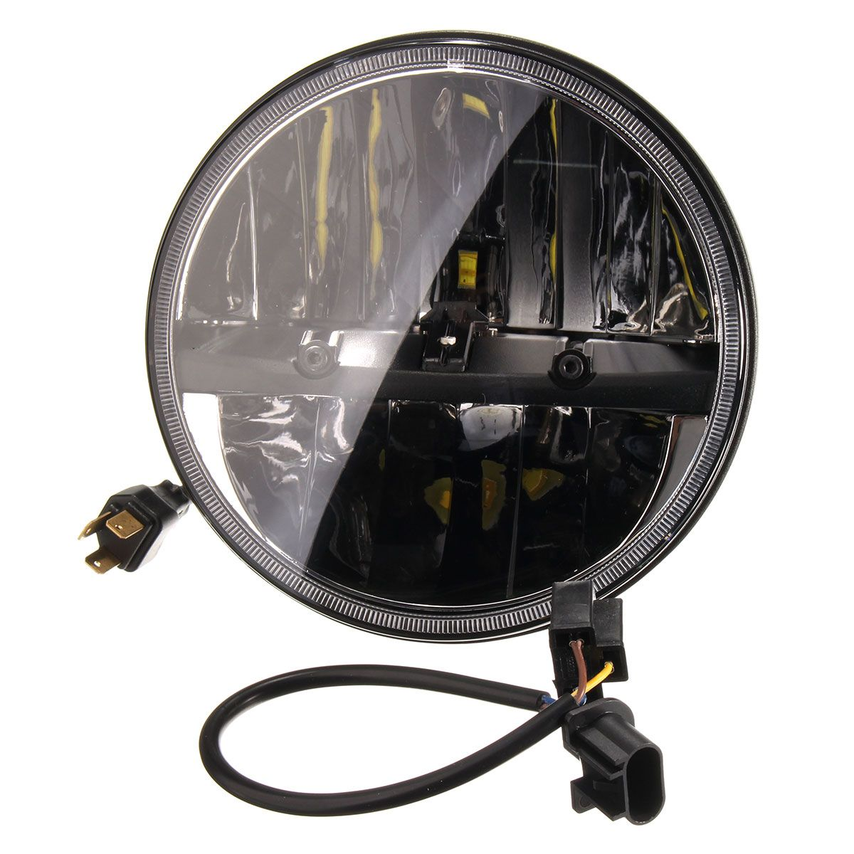 1 Set 7 Inches 10V-30V 20W 6000K Motor Motorcycle Running Light HeadLight For Harley/Davidson