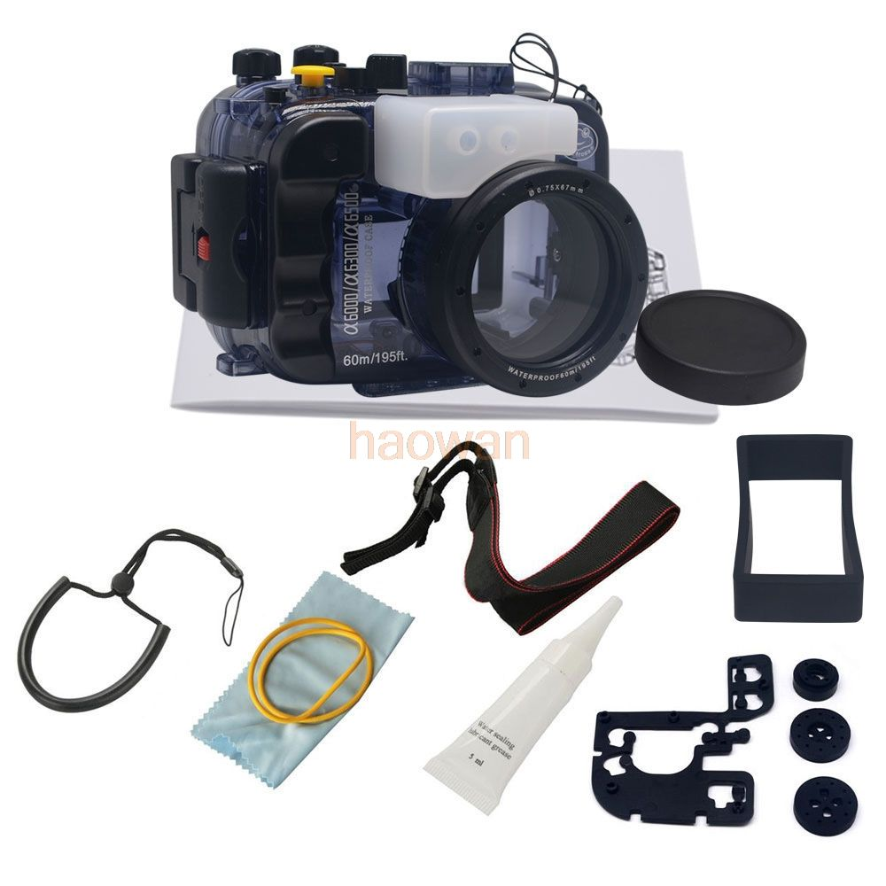 60m diving Waterproof Underwater Housing Camera bag Case protector for Sony a6000 A6300 a6500 16-50mm Lens