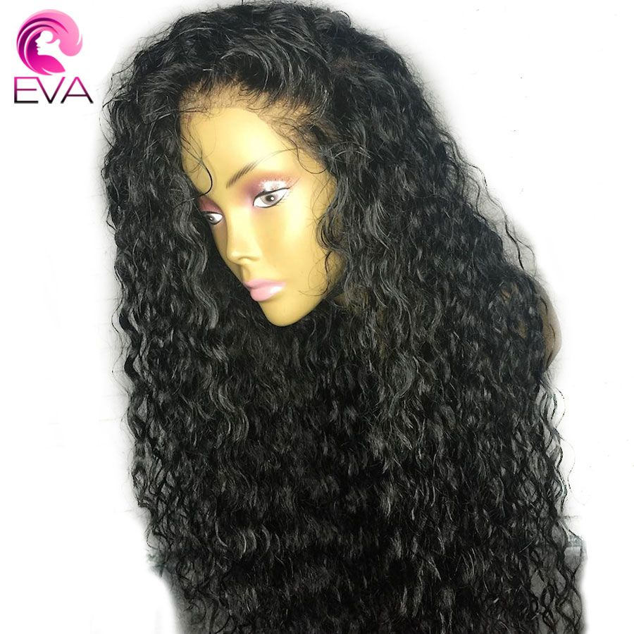 Eva Hair Curly Lace Front Human Hair Wigs Pre Plucked With Baby Hair Brazilian Remy Hair Lace Front Wig Bleached Knots For Women